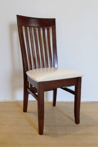 Harvard Dark Solid Wood Pair of Dining Chairs